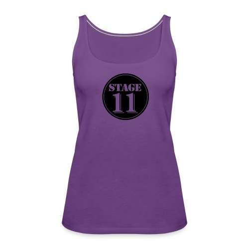 stage11 logo circle TRANSPARENT - Women's Premium Tank Top
