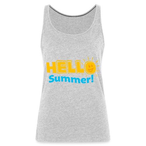 Kreative In Kinder Hello Summer! - Women's Premium Tank Top