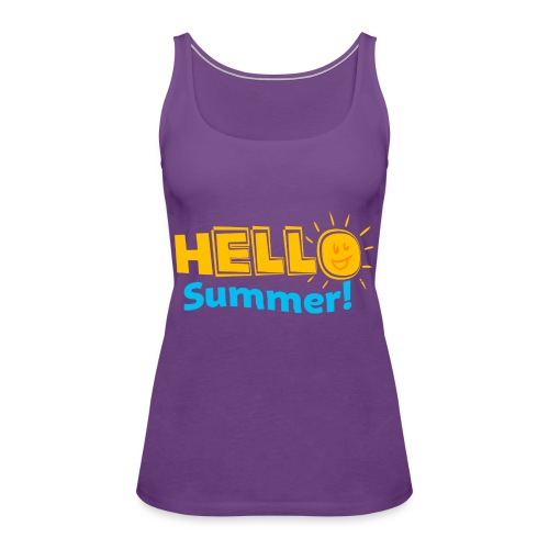 Kreative In Kinder Hello Summer! - Women's Premium Tank Top