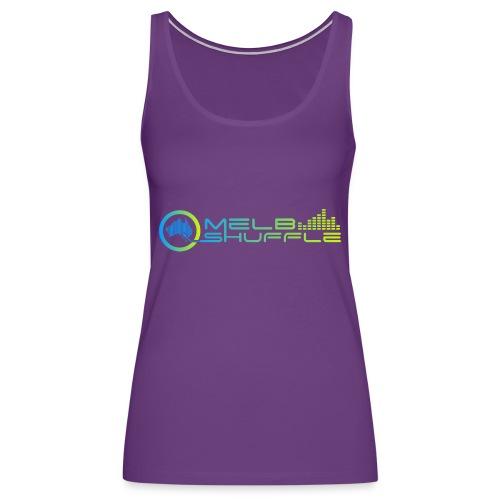 Melbshuffle Gradient Logo - Women's Premium Tank Top