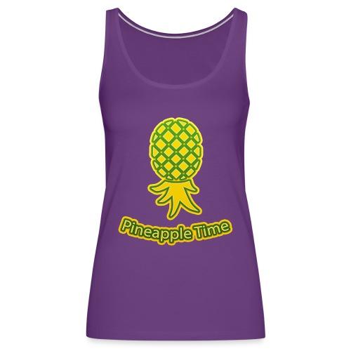 Swingers - Pineapple Time - Transparent Background - Women's Premium Tank Top
