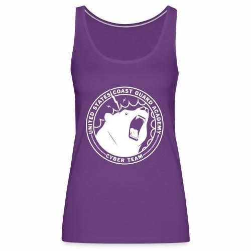 White Cybear Logo - Women's Premium Tank Top