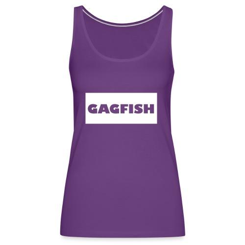 GAGFISH WIGHT LOGO - Women's Premium Tank Top