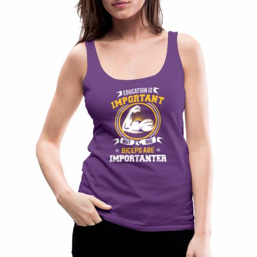 Workout is Important - Women's Premium Tank Top