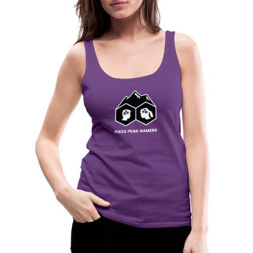 Pikes Peak Gamers Logo (Solid Black) - Women's Premium Tank Top