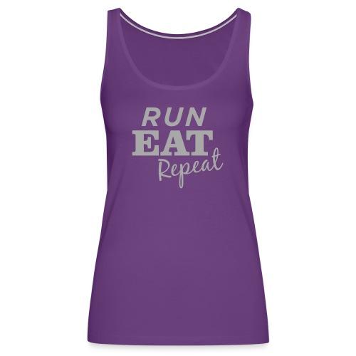 Run Eat Repeat buttons medium - Women's Premium Tank Top