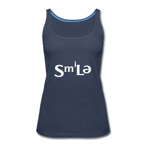 Smile Abstract Design - Women's Premium Tank Top