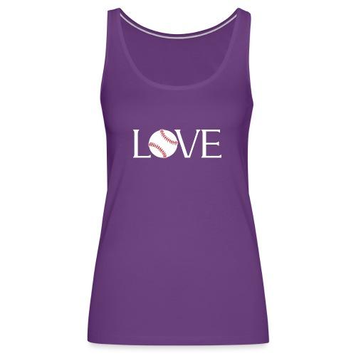 Softball baseball Love - Women's Premium Tank Top