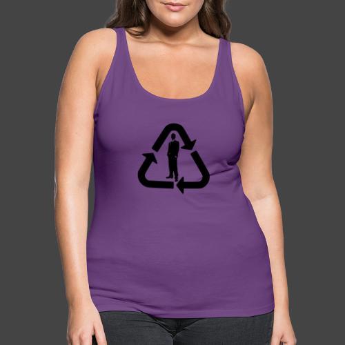 Recycle (Man Logo 1 - Dark) - Women's Premium Tank Top