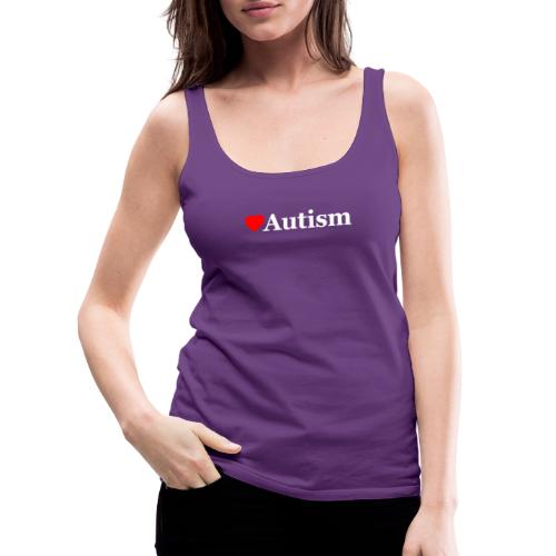 Heart Autism w - Women's Premium Tank Top