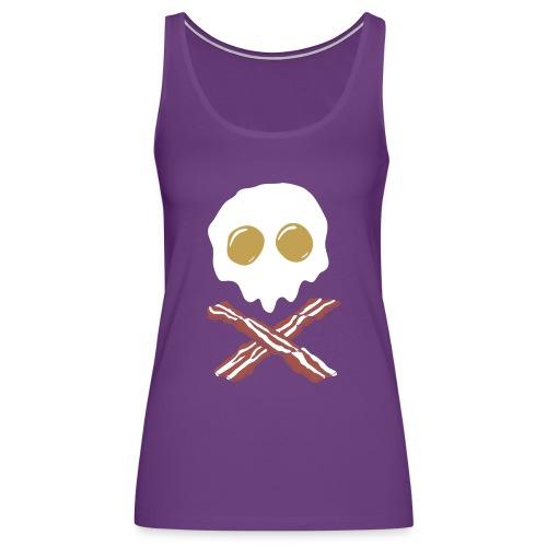 Breakfast Skull - Women's Premium Tank Top