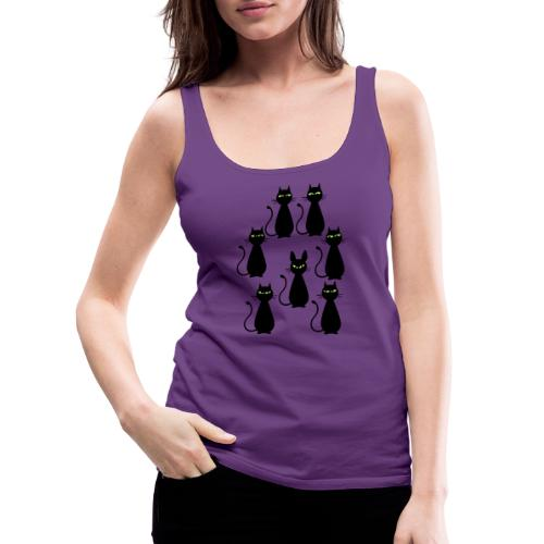 Cats and a cat with rabbit ears - Women's Premium Tank Top