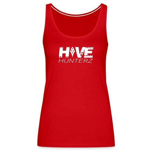 White Hive Hunterz Logo - Women's Premium Tank Top