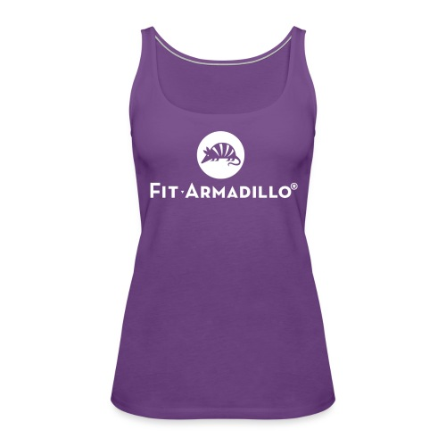 white logo TM shirt png - Women's Premium Tank Top