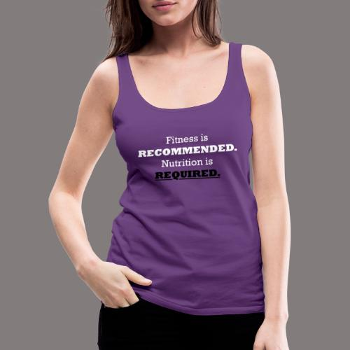 Ladies_Nutrition_Black - Women's Premium Tank Top
