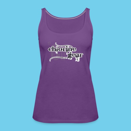 Chlorine Gear Textual stacked Periodic backdrop - Women's Premium Tank Top
