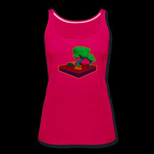 Mini Forest LowPoly - Women's Premium Tank Top