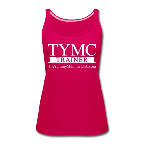 Trainer On pink - Women's Premium Tank Top