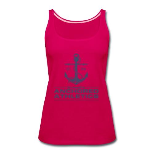 CrossFit Anchored Athletics Vertical Blue - Women's Premium Tank Top