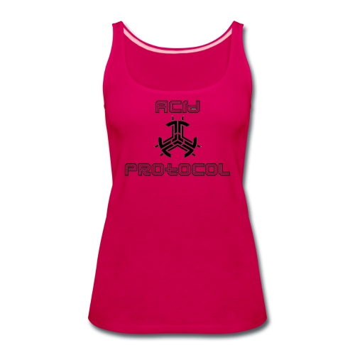 ACID PROTOCOL OFFICIAL LOGO BLACK - Women's Premium Tank Top
