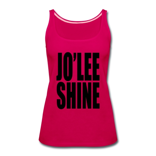 JO'LEE SHINE WOMEN'S T SHIRT WHT/PNK - Women's Premium Tank Top