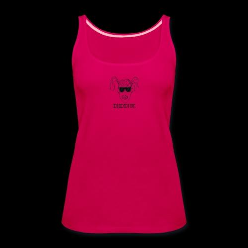 Dudette Head 1 - Women's Premium Tank Top