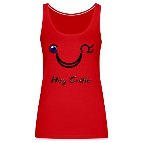 Hey Cutie Blue Eye Wink - Women's Premium Tank Top