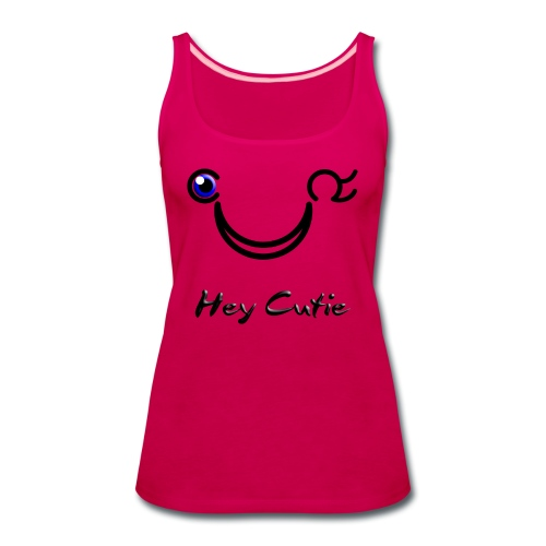 Hey Cutie Blue Eye Wink - Women's Premium Tank Top