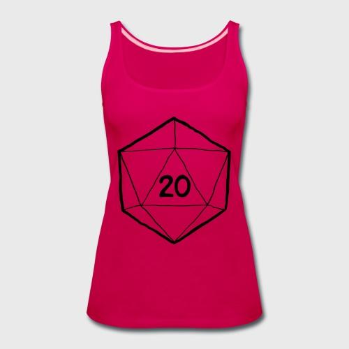 Fantasy Dice d20 - Women's Premium Tank Top