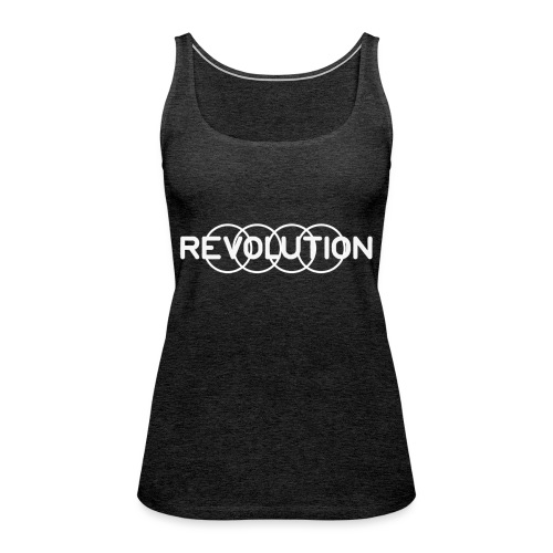 White Revolution Logo - Women's Premium Tank Top