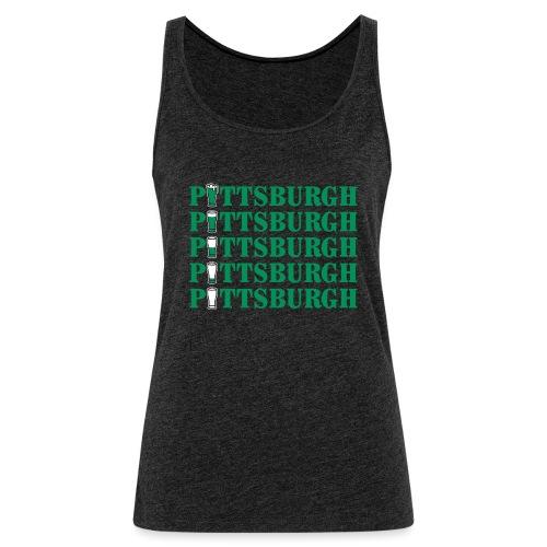 Beer in Pittsburgh - Women's Premium Tank Top