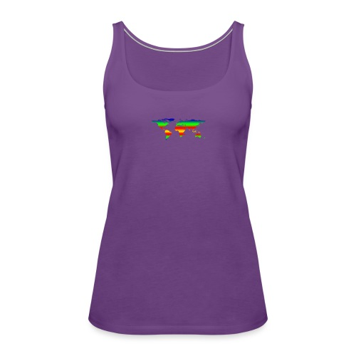 colorful world - Women's Premium Tank Top