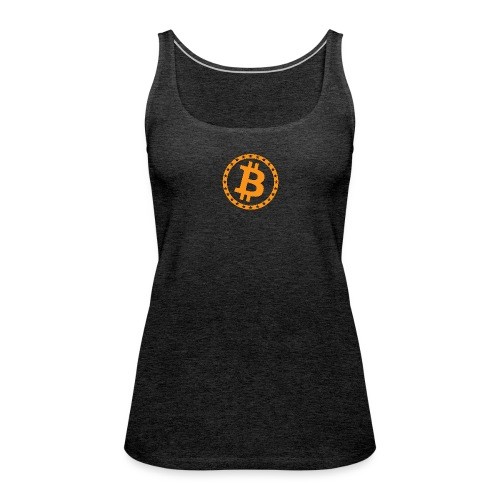 Bitcoin with star ring - Women's Premium Tank Top