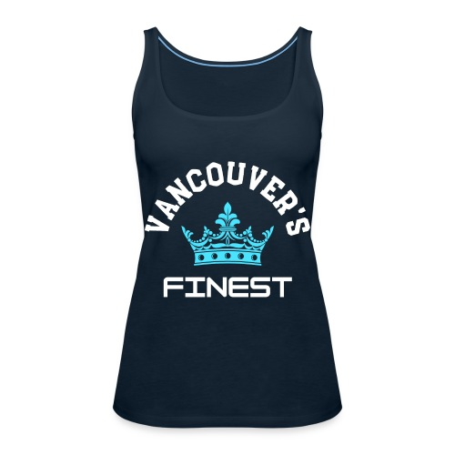 Vancouver's Finest white and blue print - Women's Premium Tank Top