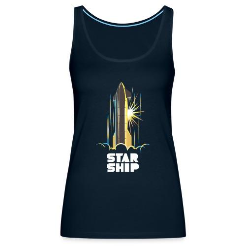 Star Ship Earth - Dark - Women's Premium Tank Top