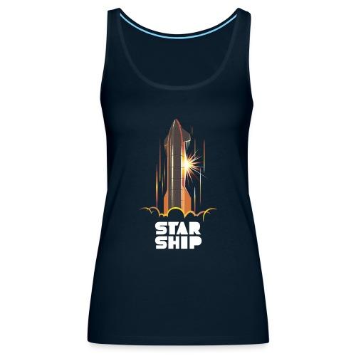 Star Ship Mars - Dark - Women's Premium Tank Top