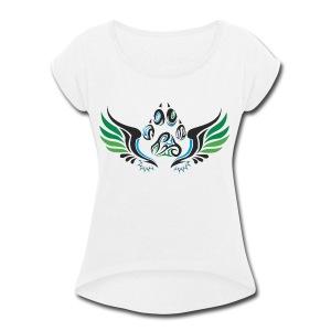 Summer Design - Women's Roll Cuff T-Shirt