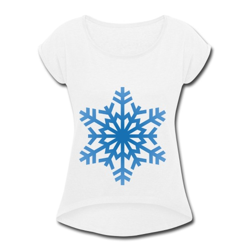 http-images-clipartpanda-com-snowflake-clipart-tra - Women's Roll Cuff T-Shirt