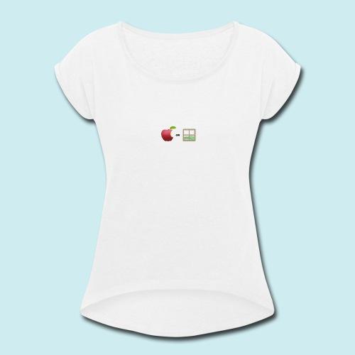 Apple or windows? - Women's Roll Cuff T-Shirt