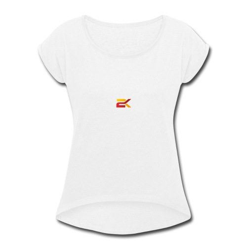 Sam 2K Logo Merch - Women's Roll Cuff T-Shirt