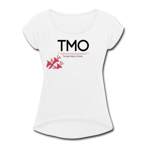 TMO Logo - Women's Roll Cuff T-Shirt