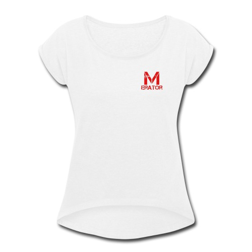 Meme_Erator Logo - Women's Roll Cuff T-Shirt