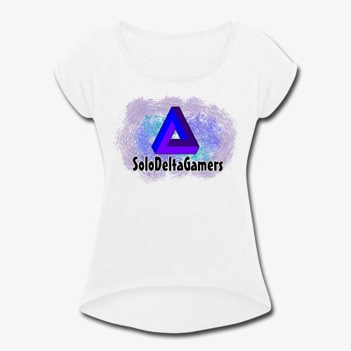 SDG Delta Logo - Women's Roll Cuff T-Shirt