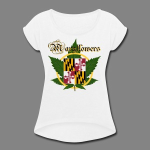 Maryflowers - Women's Roll Cuff T-Shirt
