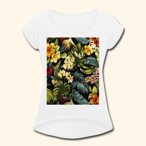 Flower BB - Women's Roll Cuff T-Shirt
