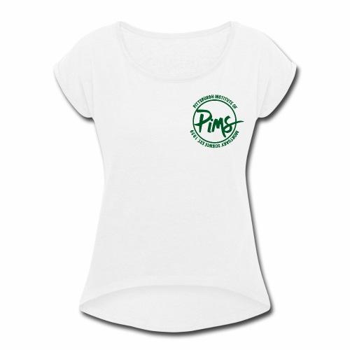 Green Logo - Women's Roll Cuff T-Shirt
