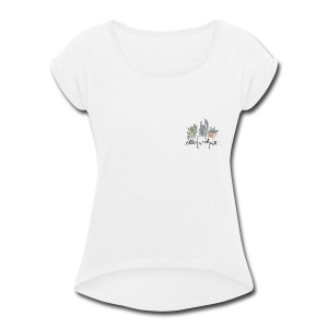 succulents - Women's Roll Cuff T-Shirt