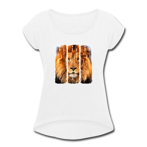 Lion Trifecta - Women's Roll Cuff T-Shirt