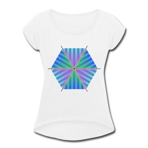 Hexagon of Eternality - Women's Roll Cuff T-Shirt