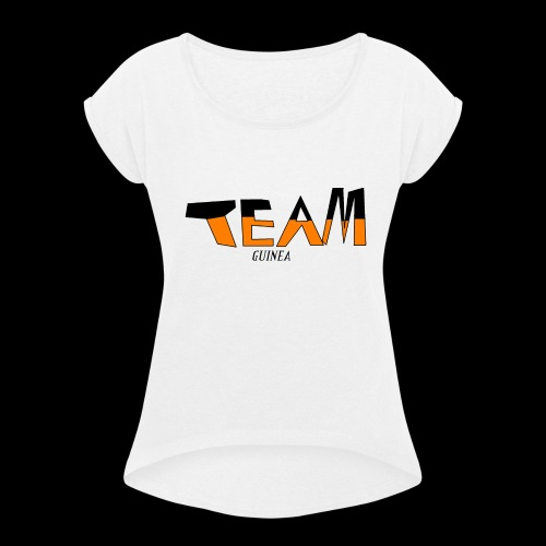 Team Guinea - Women's Roll Cuff T-Shirt